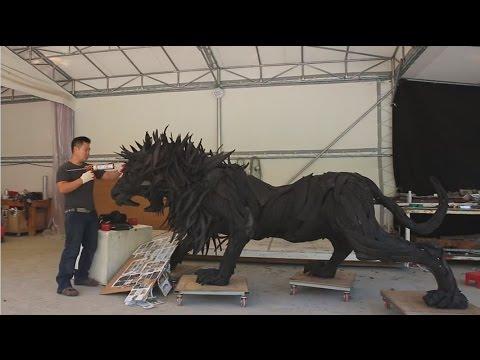画像: Lion made from TOYO TIRES www.youtube.com