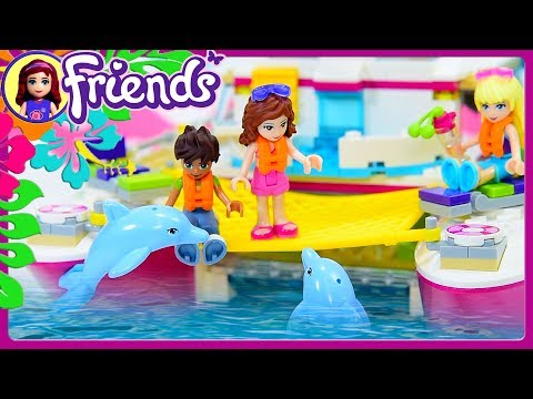 Lego Friends Sunshine Catamaran Part 2 Build Review Silly Play Kids Toys