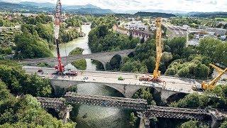 Aushub und Abtransport der König-Ludwig-Brücke in Kempten