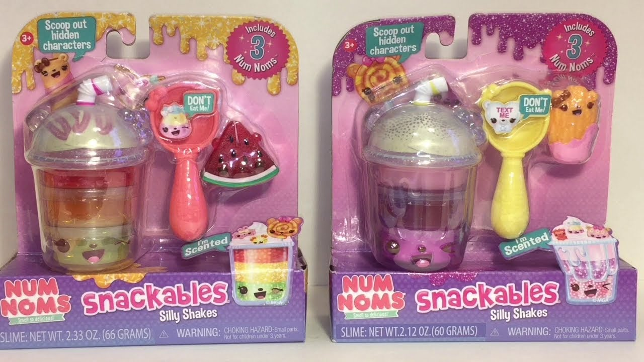 Num Noms Silly Shakes Slime Snackables Toy Unboxing Review Youtube