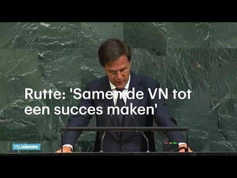 Mark Rutte: 'Samen kunnen we de VN tot een succes maken' - RTL NIEUWS