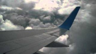 Thomson Airways Boeing 757 taking off from Birmingham airport to Lanzarote Arrecife airport