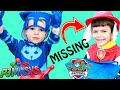 PJ Masks & Paw Patrol TEAM UP TOGETHER! Marshal Is LOST Catboy Helps Chase Find Him