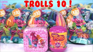 Trolls Series 10 Blind BAGS Opening Dreamworks TOYS TIN Surprise Capsule