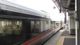 特急しなの9号長野行383系長野駅(終点)到着