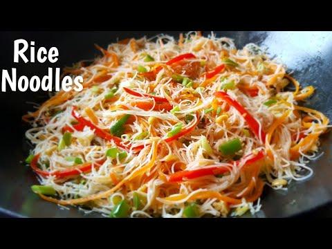 Rice Noodles And Vegetables Stir Fry | Easy Rice Noodles Recipe |Pancit