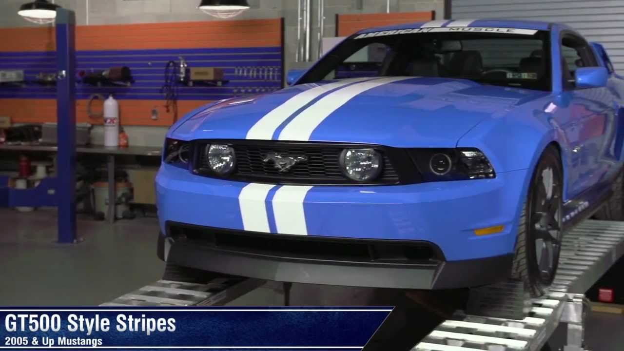 Mustang GT500 Style Stripes - 10in and 5in (05-13 All) Review