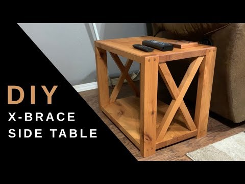 Farmhouse X Brace Side table | DIY End Table