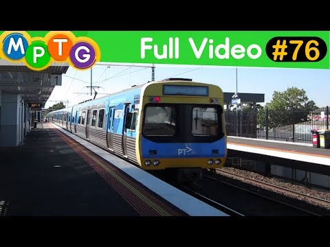 Melbourne's Trains and Trams Mix (Full Video #76)