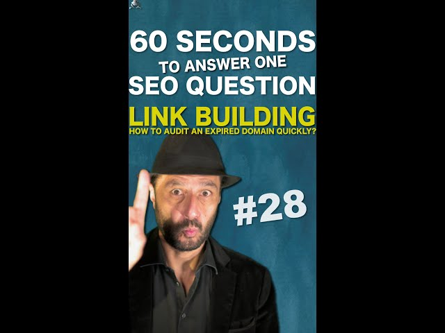 How to Audit Quickly an Expired Domain to Buy for Linkbuilding in Google SEO - #Shorts