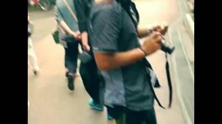 GWの清水寺にて。 犬をカート、かばんに入れてれば、犬と一緒に入れます...