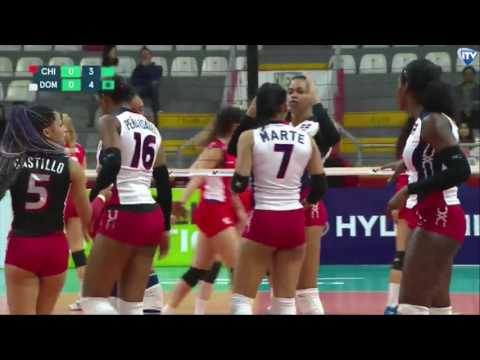PANAM CUP República Dominicana vs Chile Volleyball 18 06 2017