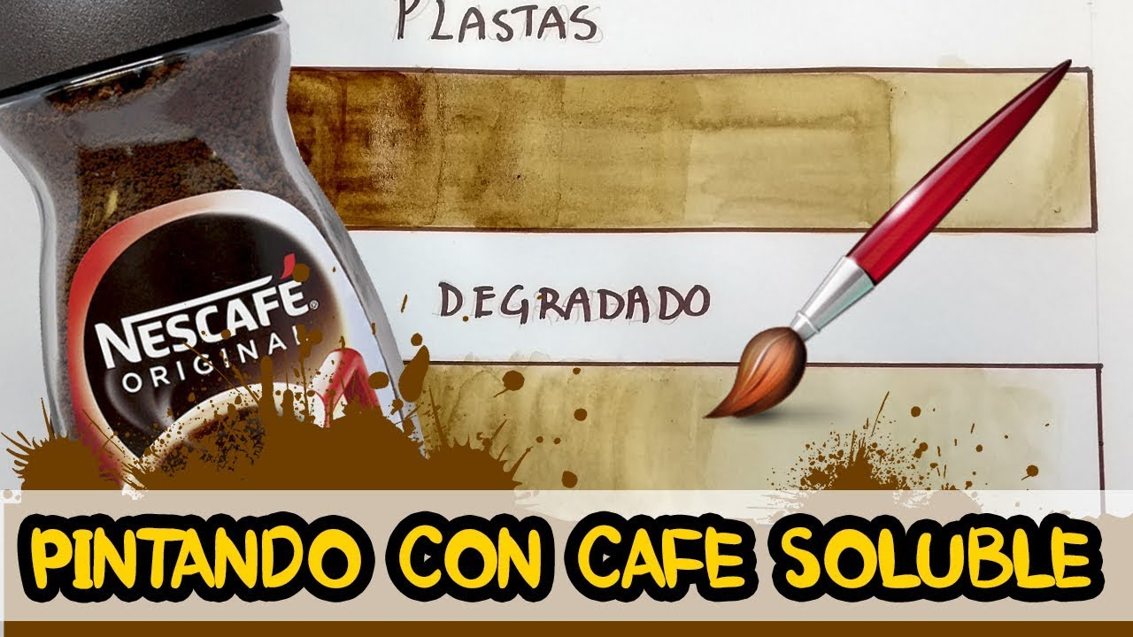 Cómo Pintar Con Café Soluble Artgio Youtube