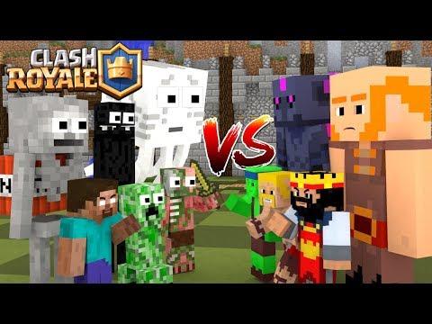 Monster School : Clash Royale Battle - Minecraft Animation