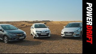 Toyota Yaris vs Honda City vs Hyundai Verna : Which ones the smarter choice? - PowerDrift