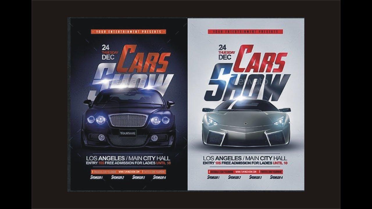 Car Show Flyer Design Using Coreldraw YouTube - Car show flyer