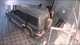 Thieves Stealing ATM
