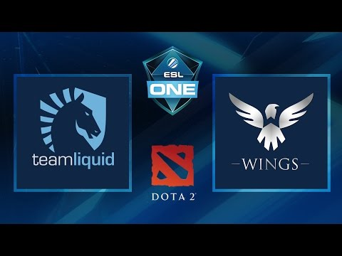Dota 2 - Team Liquid vs. Wings - Game 1 - ESL One Manila 2016 - Group A Winners Match