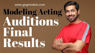 Modeling Acting Auditions Results | G&G Modeling Acting Academy | Modelling Tips | Modelling Agency