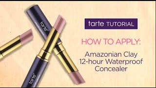 tarte tutorial: how to cover dark circles with our Amazonian clay 12-hour waterproof concealer Thumbnail