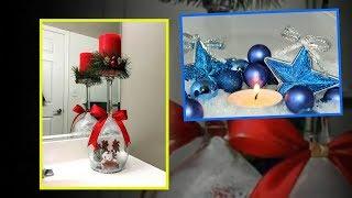 DIY Christmas Candle Decor, Holders And Display Ideas