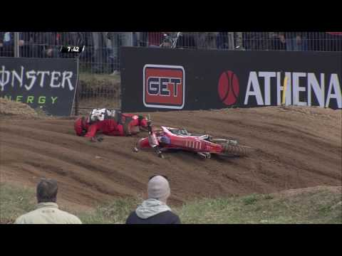 MXGP of Latvia Tim Gajser Crash