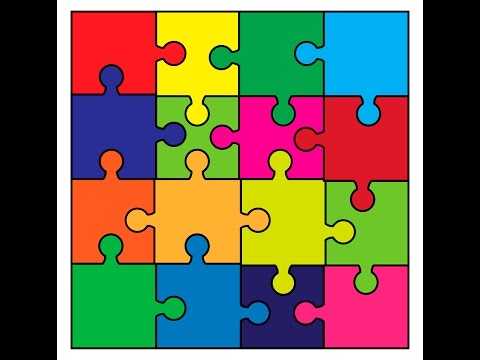 Puzzle background - Adobe Illustrator cs6 tutorial. How to draw puzzle jigsaw wallpaper.
