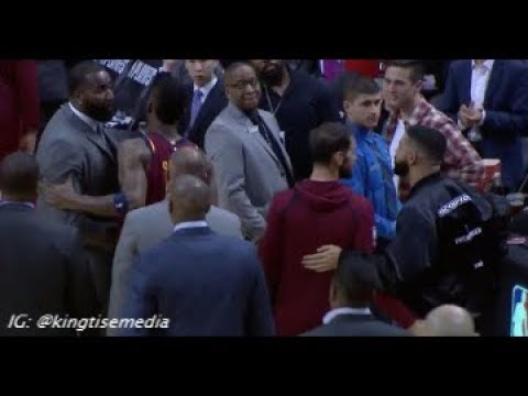 Drake & Kendrick Perkins FIGHT During Cavs vs Raptors Game 1