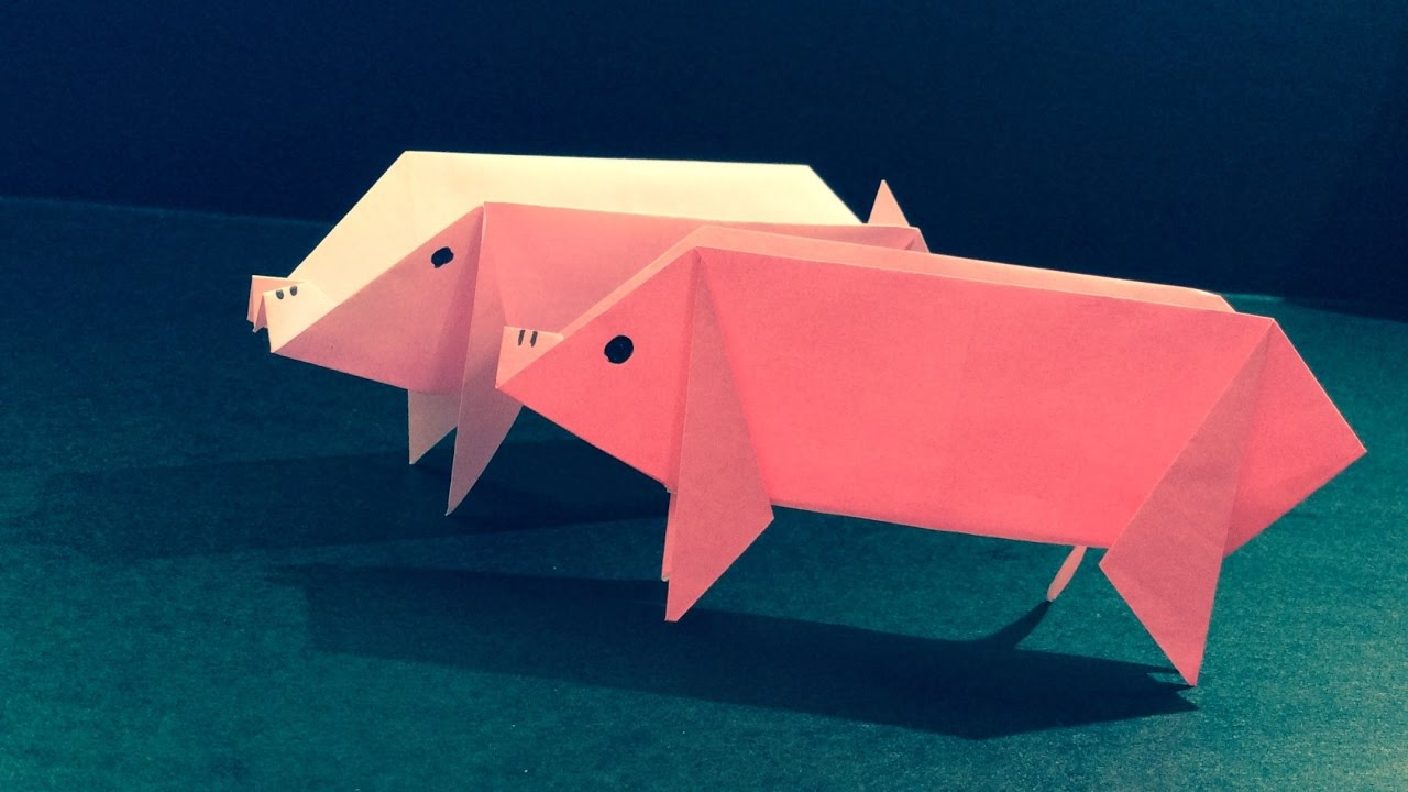 How to Fold an Origami Pig (Quick Tutorial) - YouTube - photo#14
