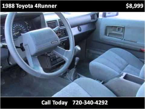 1988 toyota 4runner used cars longmont co youtube for Victory motors trucks longmont