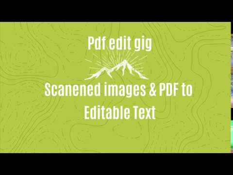 Edit Scanned Pdf, Encrypted And Enbale Editing & Printing