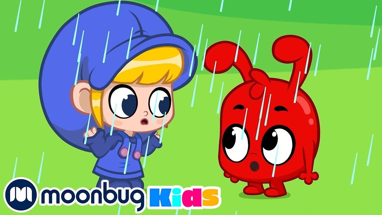 Rain Rain Go Away @Morphle TV   Sing Along With Me!   Baby Cartoons & Songs   Moonbug Kids