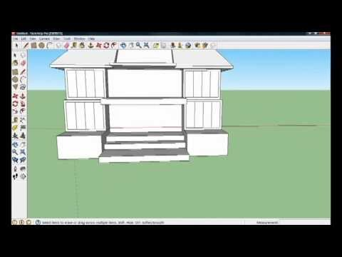 Google sketchup 8 house tutorial part 1 4 youtube for Mobilia sketchup 8