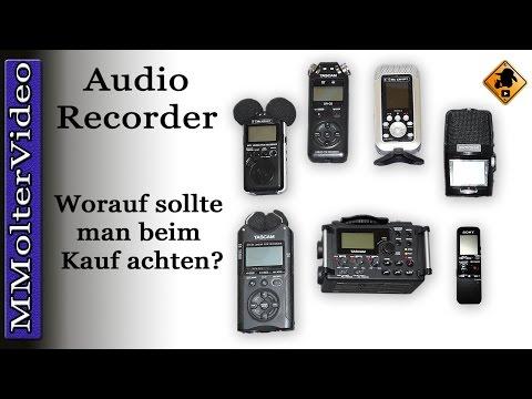 Audio Recorder - worauf sollte man beim Kauf achten?