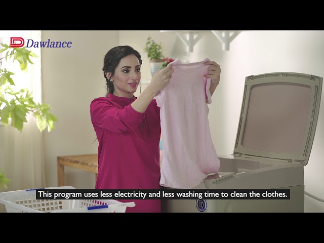 Top Load Washing Machine | Program Settings | Ask Dawlance