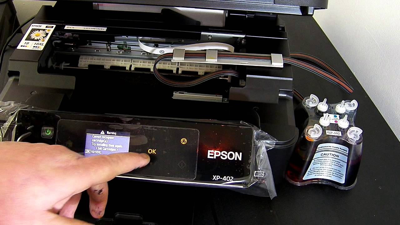 Ciss continuous ink system fits Epson Expression XP-402