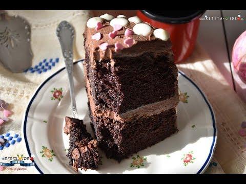 Tort cu Blat Umed si Crema de Unt si Cacao
