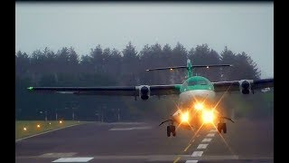 ATR 72-600 - Taxi and Head On Takeoff