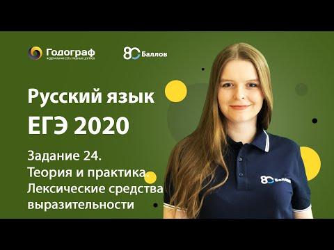 Видеоурок егэ по русскому задание 24