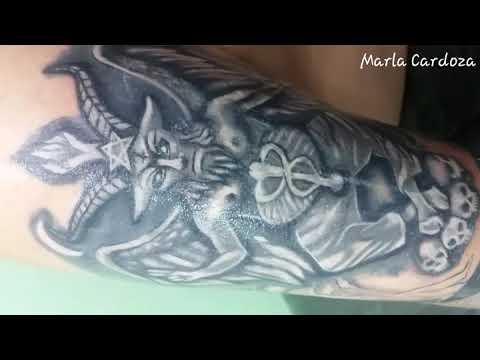 Baphomet tattoo Marla cardoza