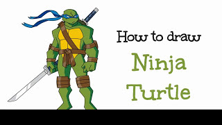 How to draw Ninja turtles | Drawing Ninja Turtles Step by Step | Drawing Ninja Turtle Tutorial