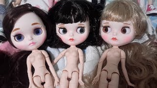 Aliexpress Blythe factory custom unboxing doll haul ~ also laces, a few shirts, and some fabric