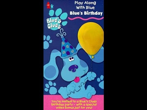 Opening to Blue's Clues Blue's Birthday 1998 VHS - YouTube