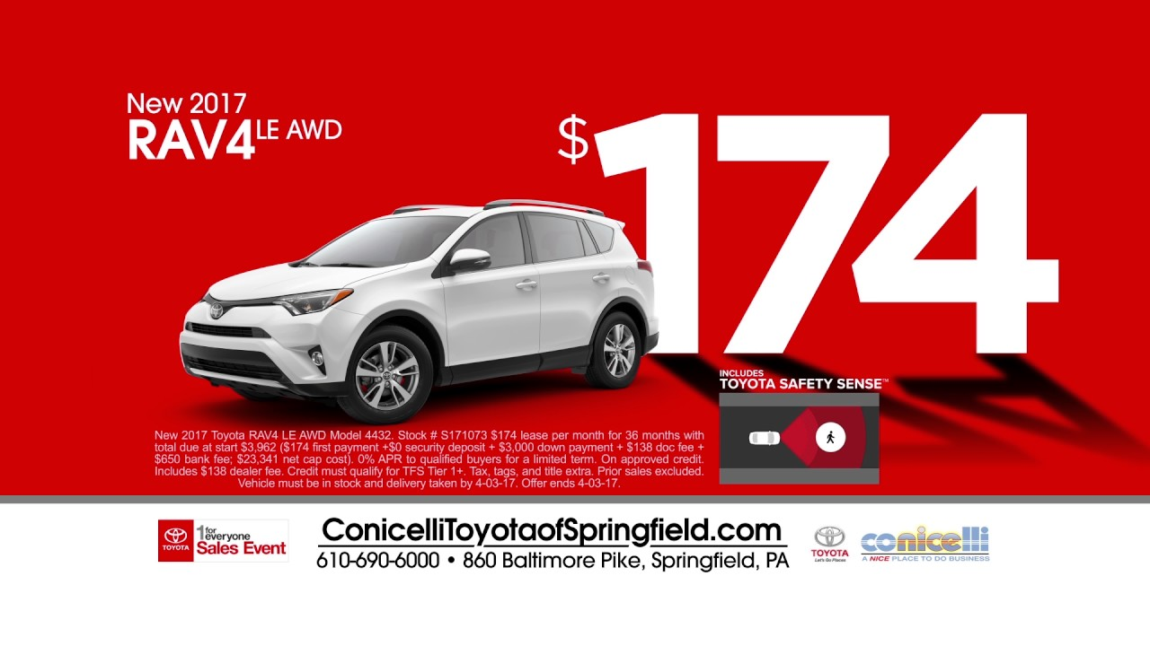 $121/month Camry U0026 $174/month RAV4 At Conicelli Toyota Of Springfield