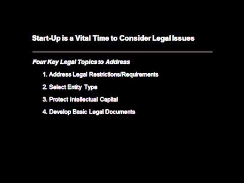 Legal Issues of Start-Ups Business (Audio recording)