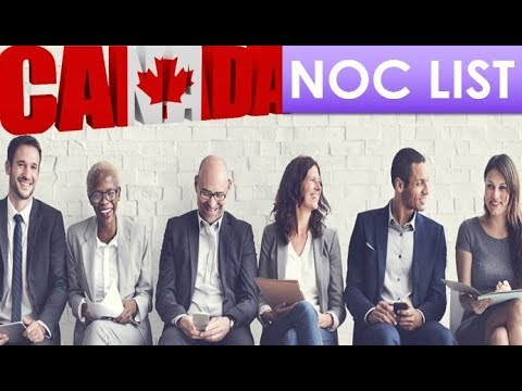 What Is Canada NOC List | How to Identify Canada Job NOC Code