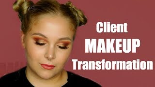 CLIENT MAKEUP TUTORIAL | WARM CUT CREASE HOODED EYES