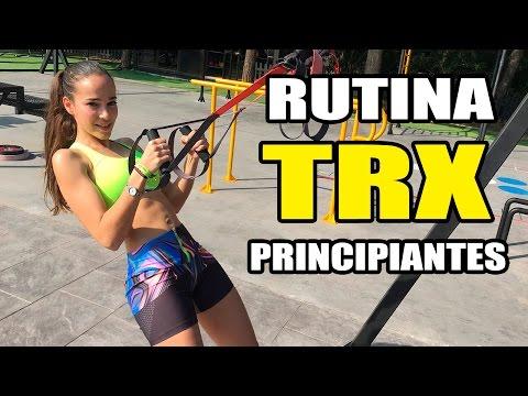 Rutina TRX para PRINCIPIANTES    8 Ejercicios Básicos con TRX Training