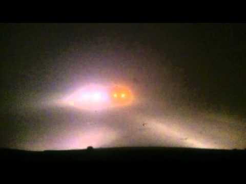 Жесткий туман на трассе Красноярск-Уяр 2015