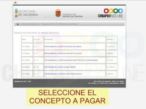 PAGO DE DERECHO Secretaría de Hacienda Chiapas
